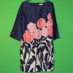 Lilly Pulitzer Womens 8 Floral 3/4 Slv Dress